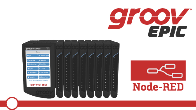 Node-RED from groov EPIC:  Status, the Editor, Backup and Restore Projects