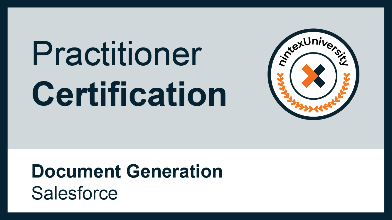 Nintex Document Generation Practitioner - Salesforce