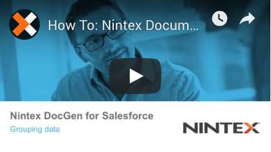 How to: Group Data in Tables in Nintex Document Generation for Salesforce