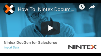 How to: Import Data in Nintex Document Generation for Salesforce