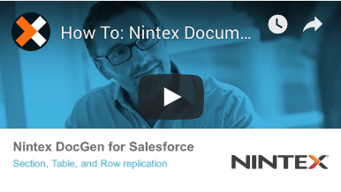 How to: Section, Table, and Row Replication in Nintex Document Generation