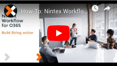 How to: Build String Action in Nintex Workflow for Office 365