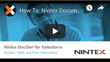 How to: Merge Data with Nintex Document Generation
