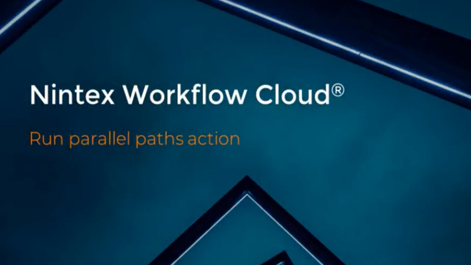 How to: Run Parallel Paths in Nintex Workflow Cloud