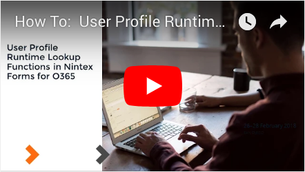 How to: User Profile Runtime Lookup Functions in Nintex Forms for Office 365