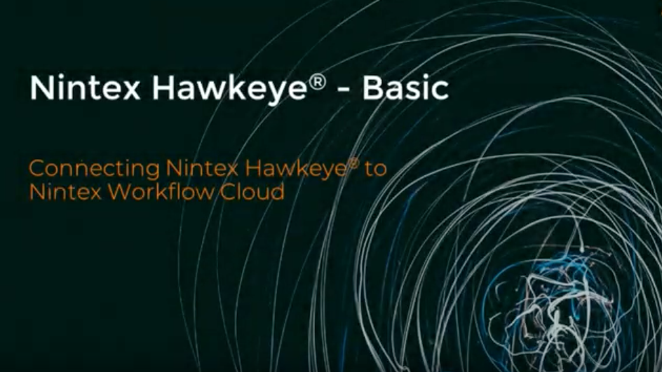How to: Connect Nintex Hawkeye® to Nintex Workflow Cloud