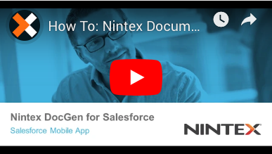 How to: Create a Nintex DocGen Lightning Component for Mobile