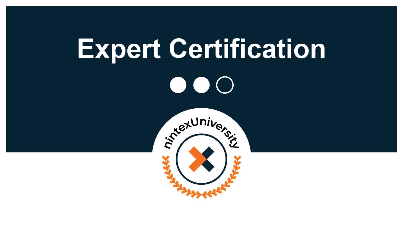 Certification: Nintex Process Automation Expert - Nintex Workflow Cloud