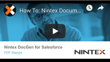 How to: Create PDF Stamps in Nintex Document Generation for Salesforce
