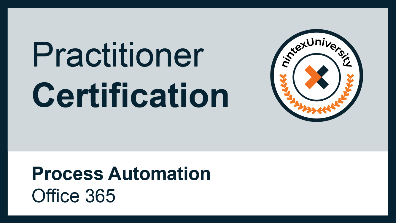 Nintex Process Automation Practitioner - Office 365