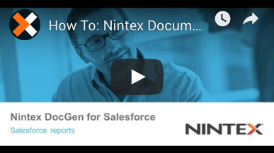 How to: Generate Salesforce Reports with Nintex Document Generation