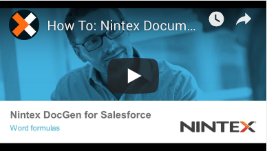 How to: Word Formulas in Nintex Document Generation for Salesforce