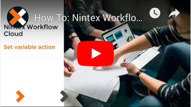 How to: Set a Variable Value Action in Nintex Workflow Cloud