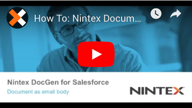 How to: Document as Email Body in Nintex Document Generation for Salesforce