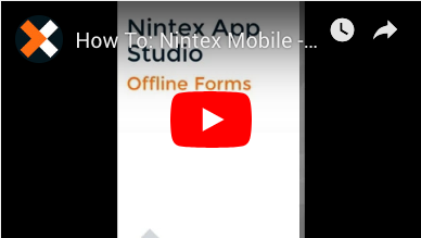 How to: Create Offline Forms in Nintex Mobile