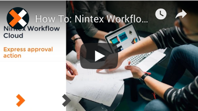 How to: Express Approval Action in Nintex Workflow Cloud