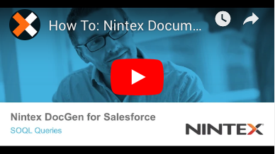 How to: SOQL Queries in Nintex Document Generation