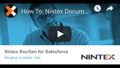 How to: Unrelated Data in Nintex Document Generation for Salesforce