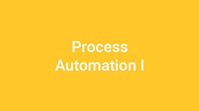 Process Automation I - Virtual Instructor-Led Course