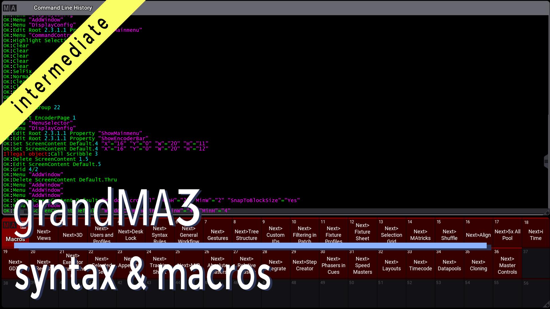 grandMA3 Syntax and Macros