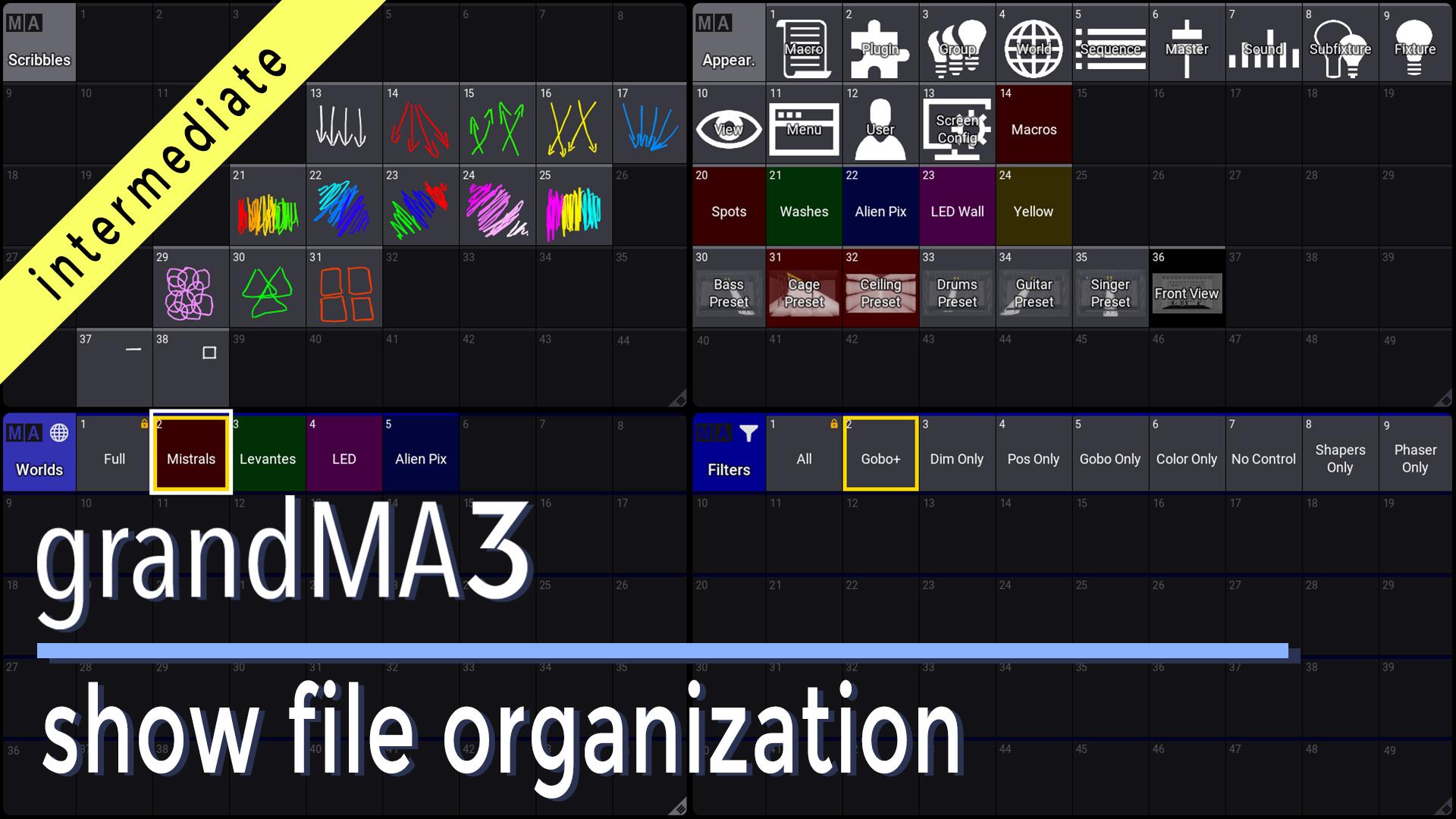 grandMA3 Show File Organization
