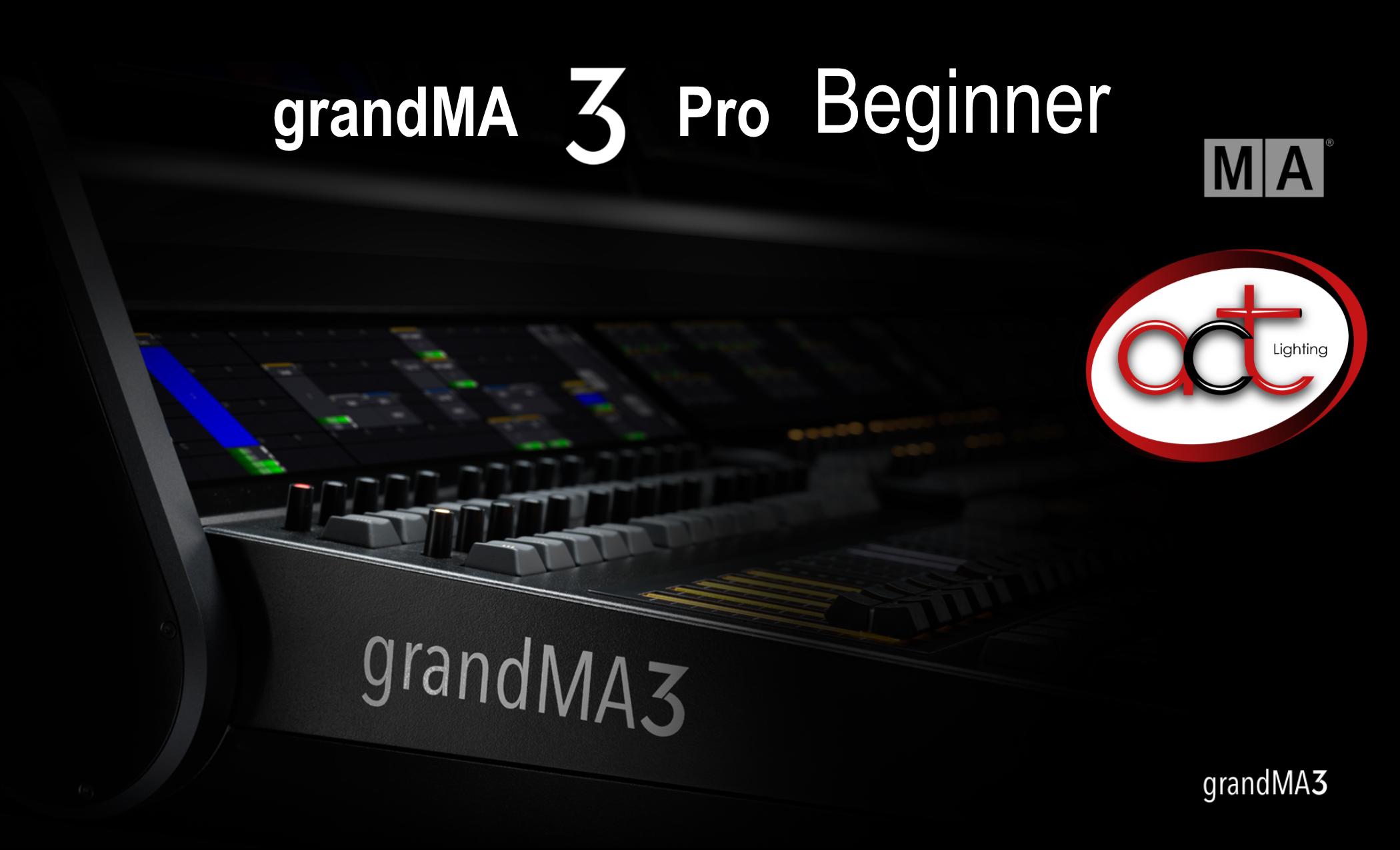 grandMA3 Pro Beginner