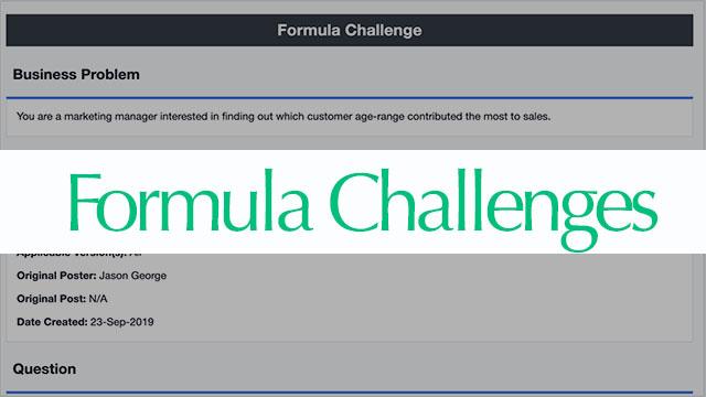 Formula Challenges