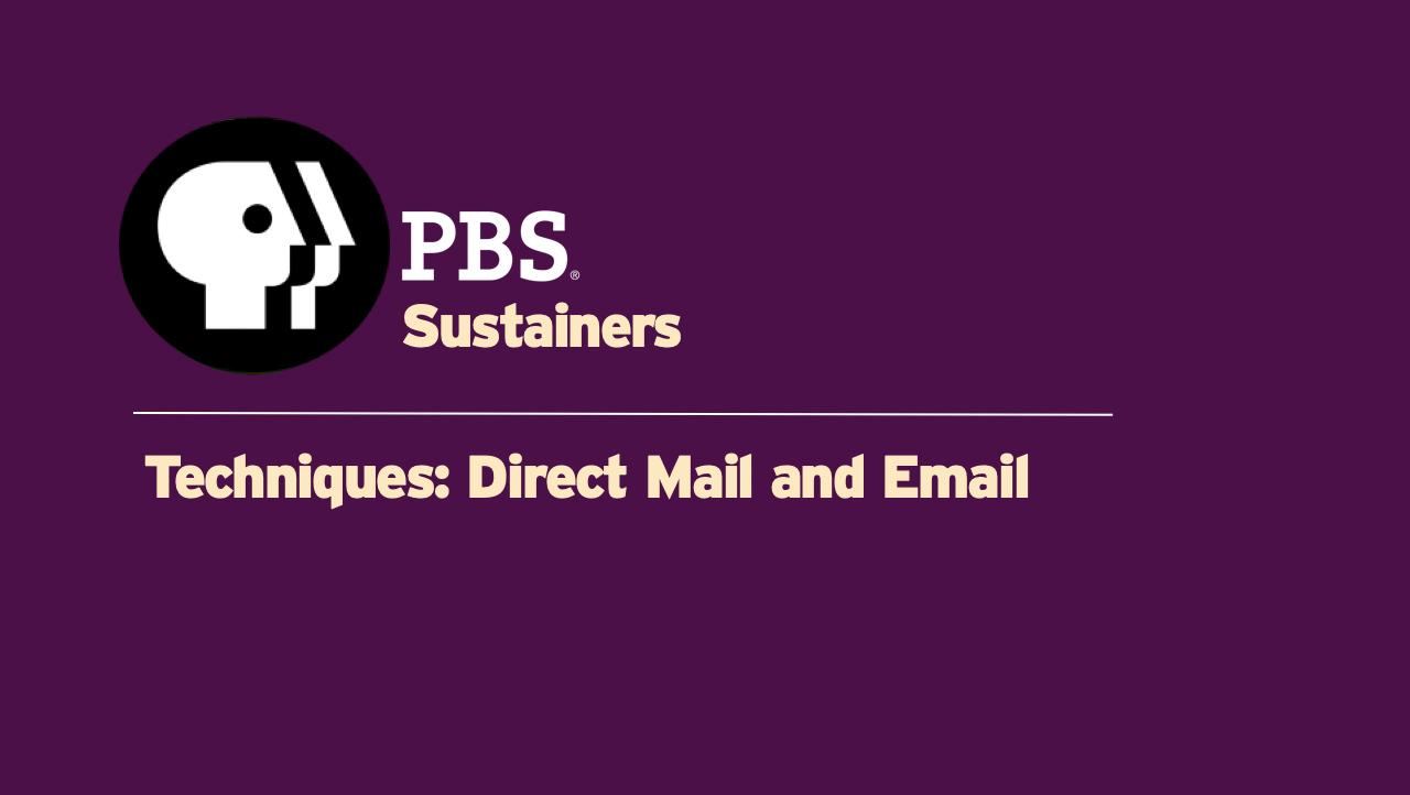 TEC01 - Direct Mail and Email