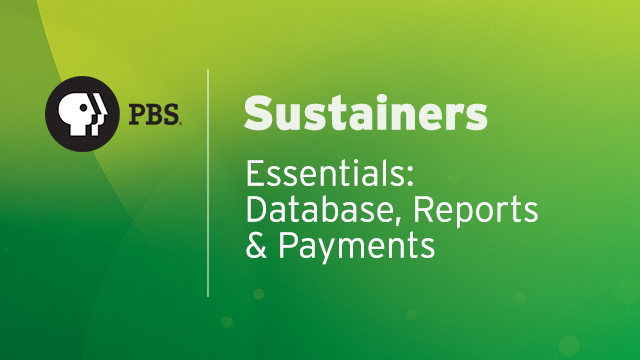 SUS03 - Database, Reports and Payments