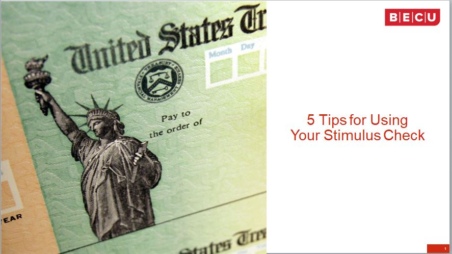 5 Tips for Using Your Stimulus Check