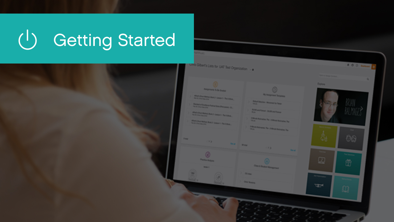 Getting Started with Your SmartMusic Teacher Subscription
