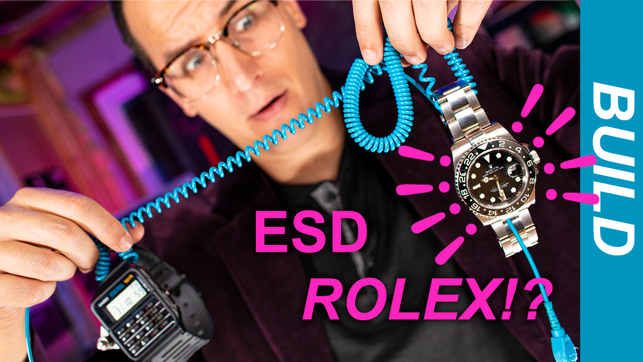 Latest video: Turning a ROLEX into an anti-static band