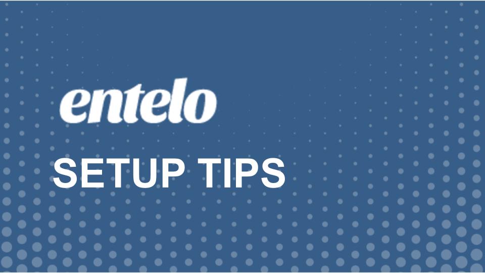 Setup Tips
