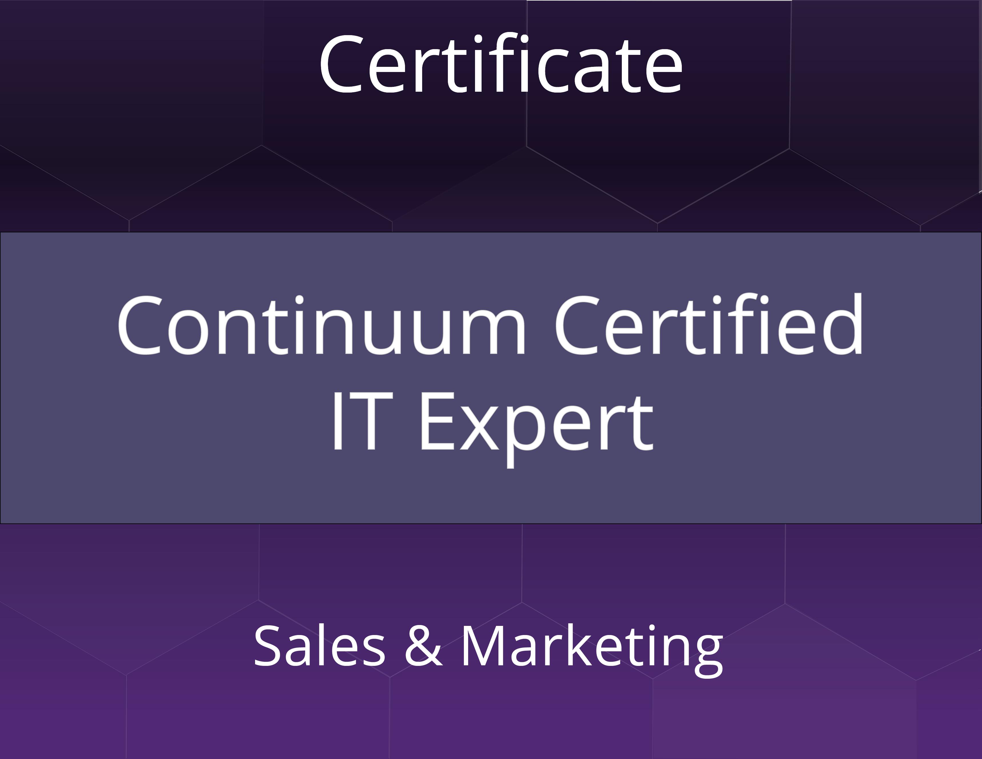 Continuum Certified IT Expert