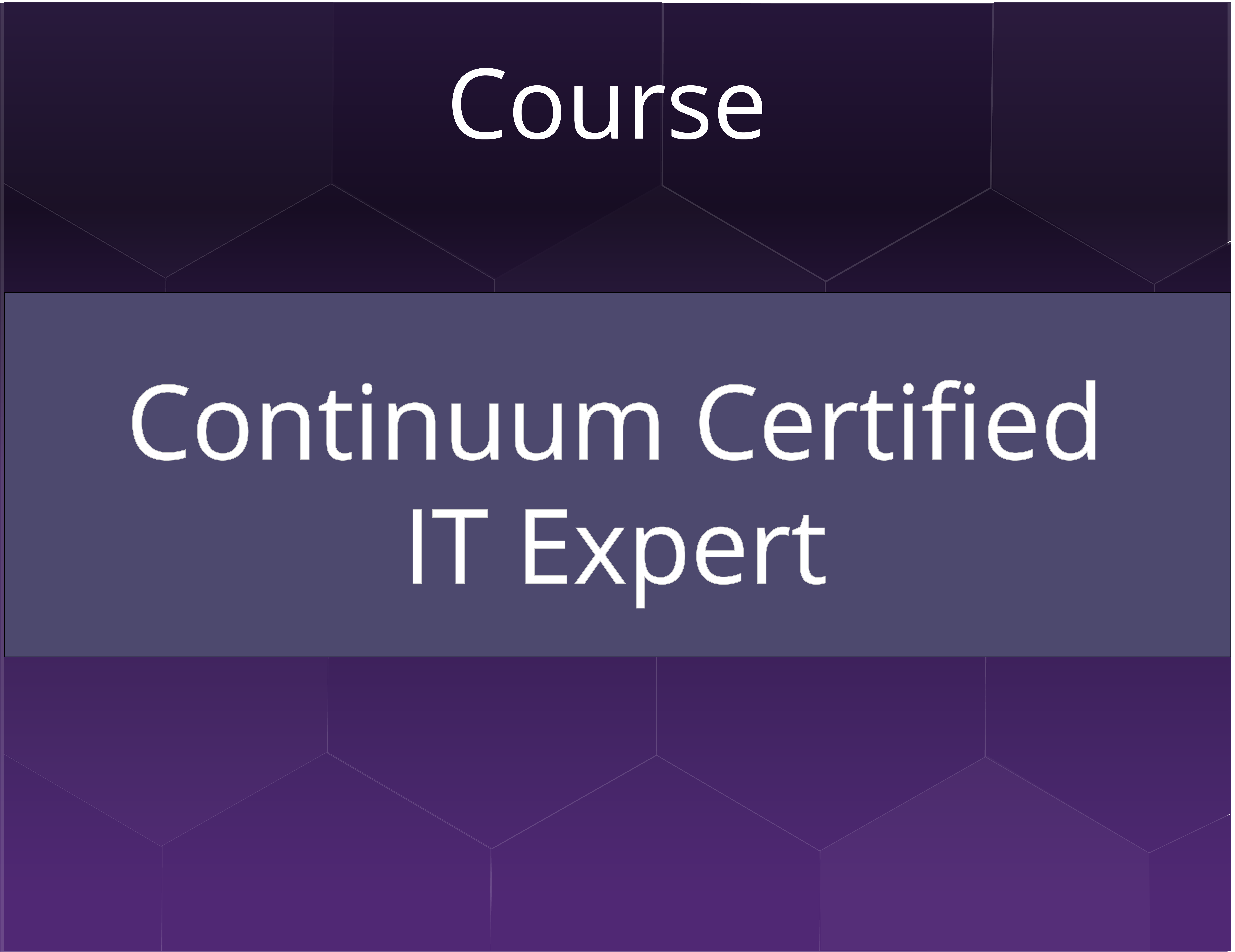 Continuum Certified IT Expert