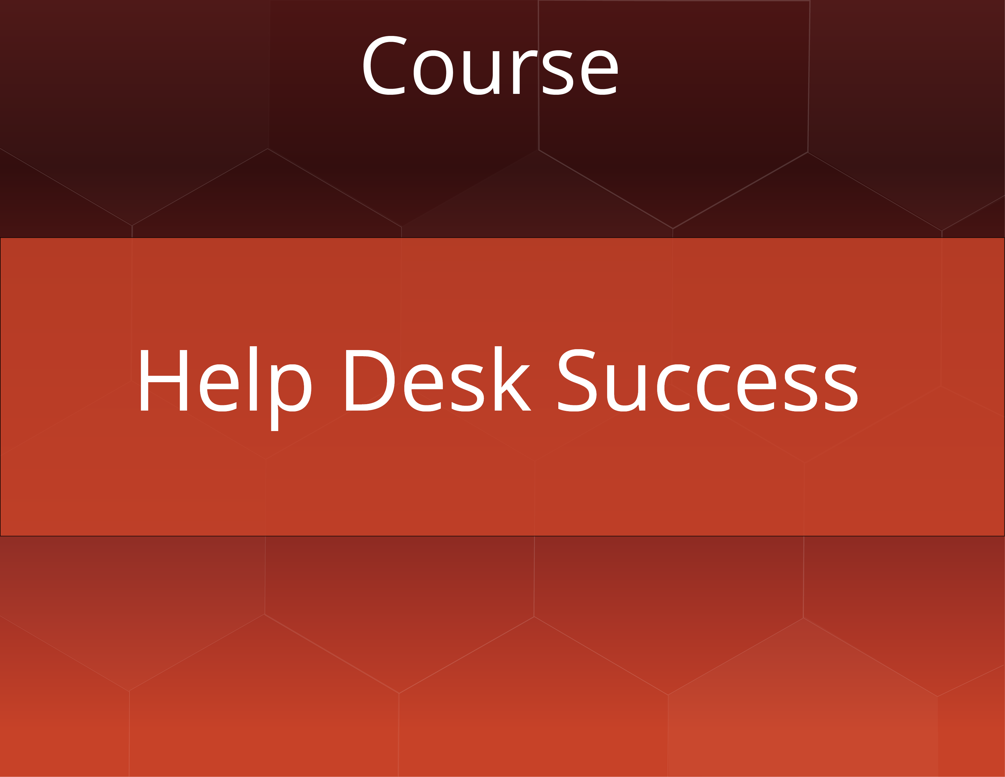 Help Desk Success