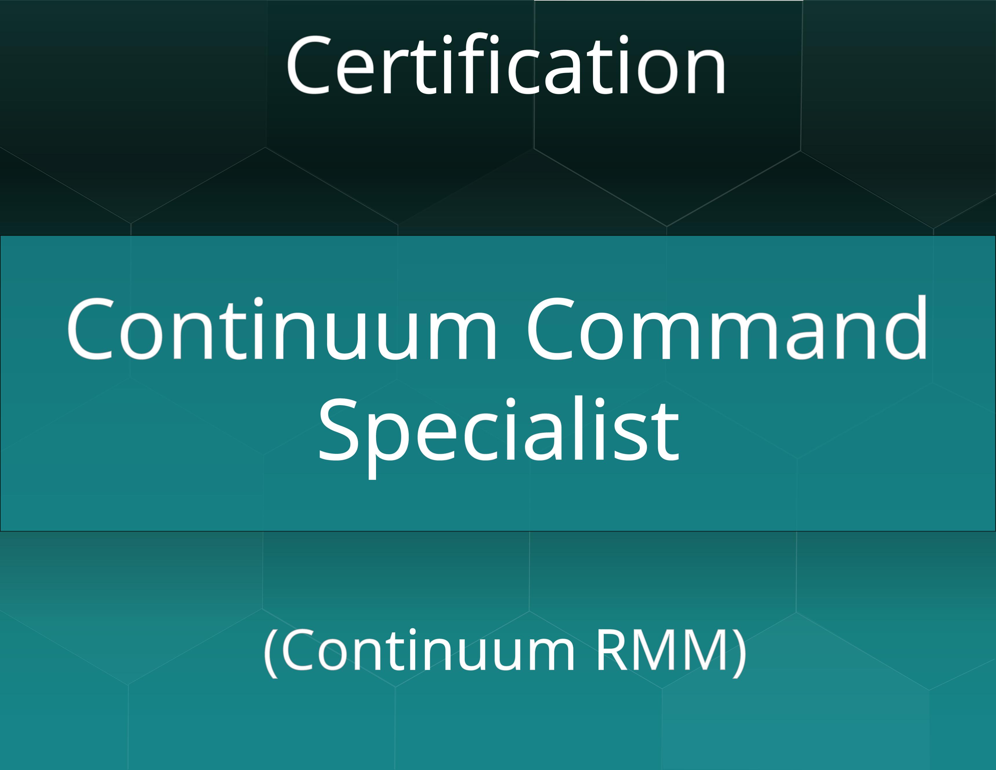 Continuum Command Specialist Certificate