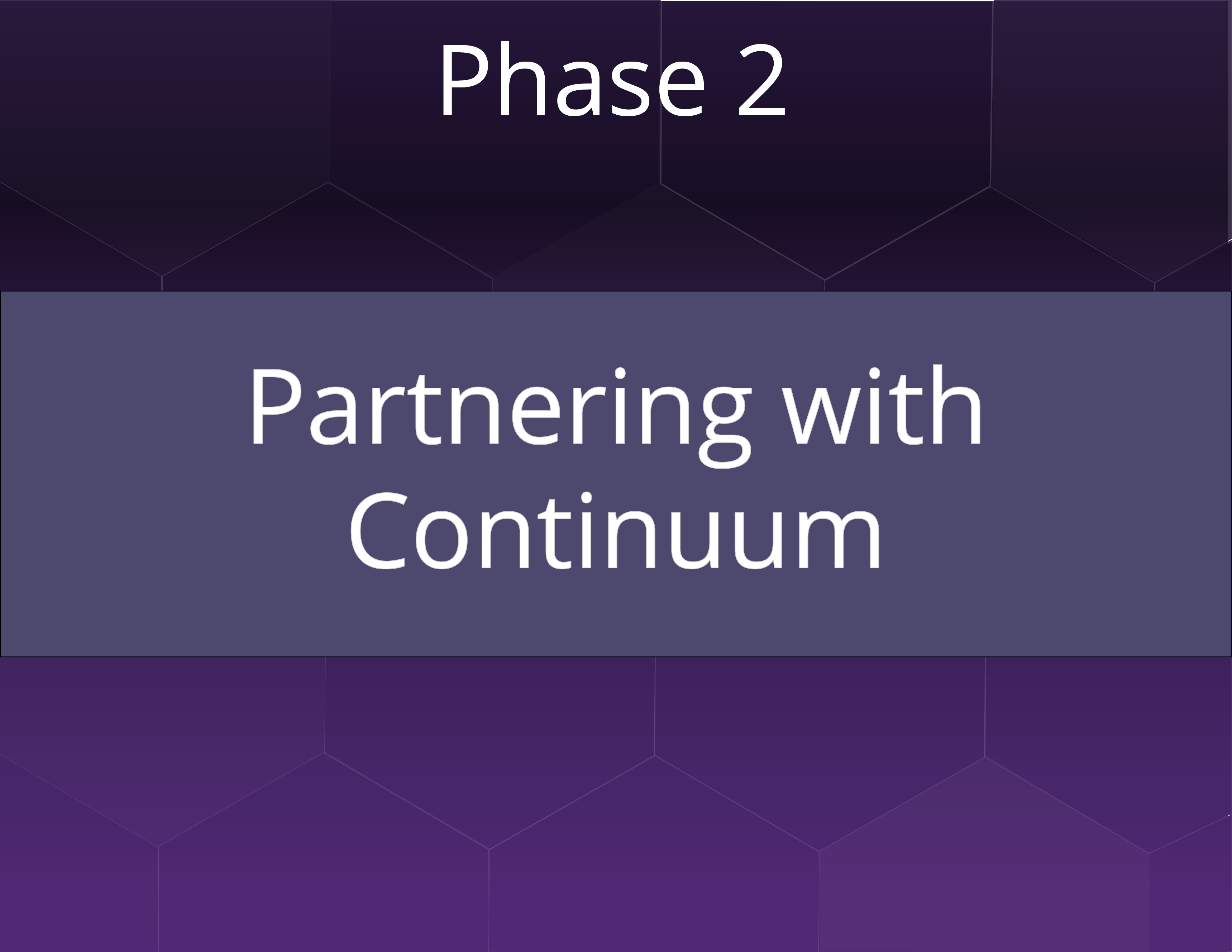 Path to Success Phase 2: Partnering with Continuum