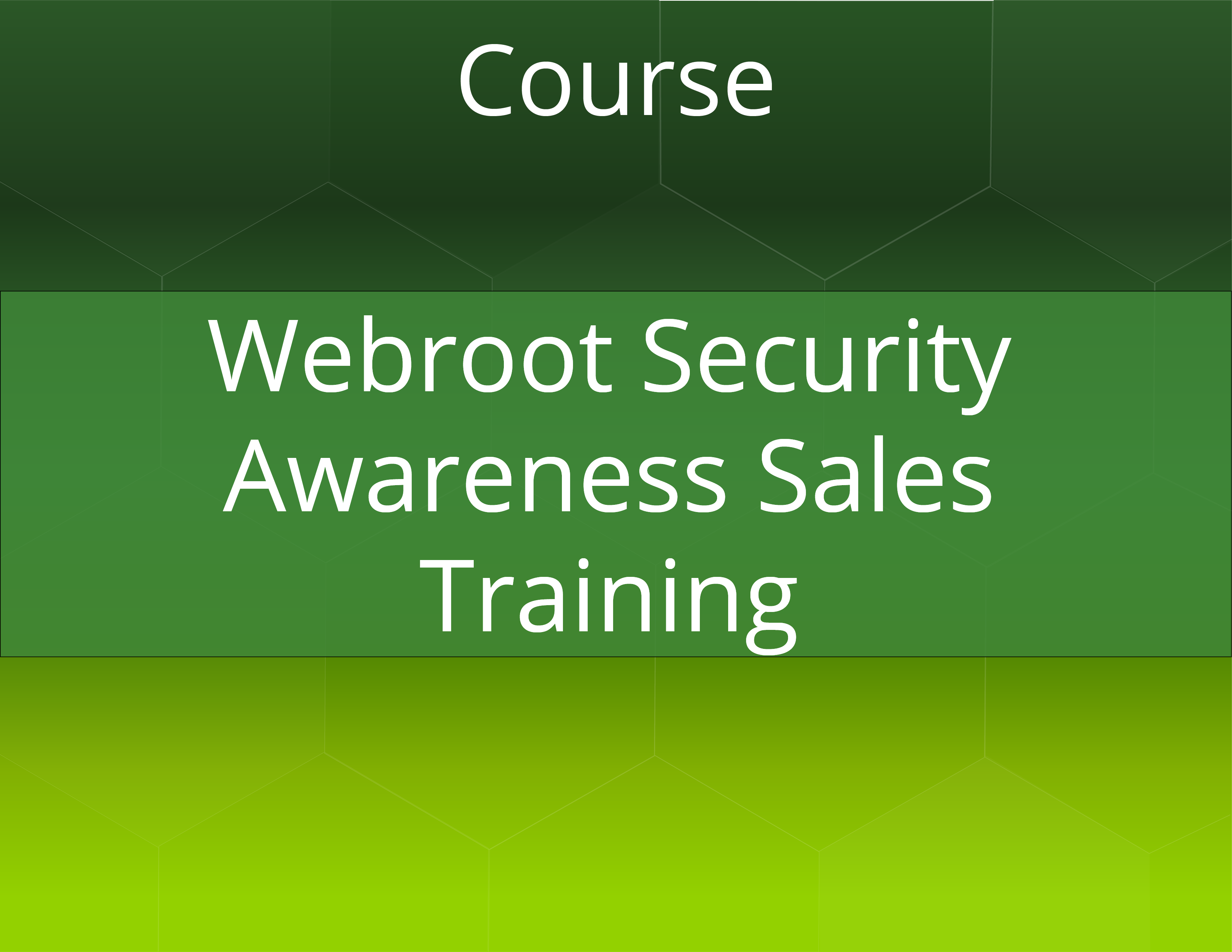 Webroot® Security Awareness Sales Training
