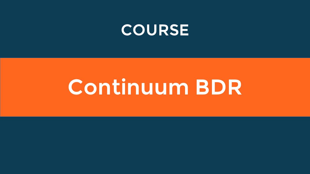 Continuum BDR