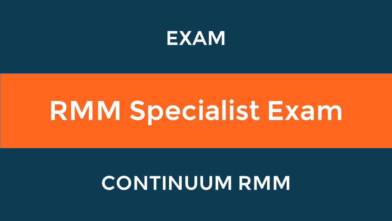 RMM Specialist Exam