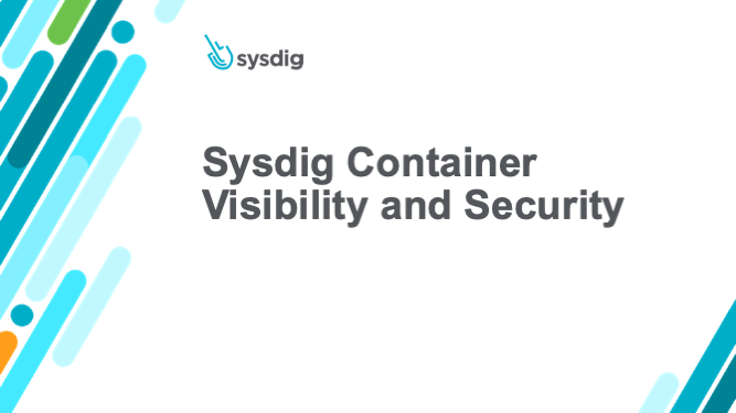 Sysdig Container Visibility and Security