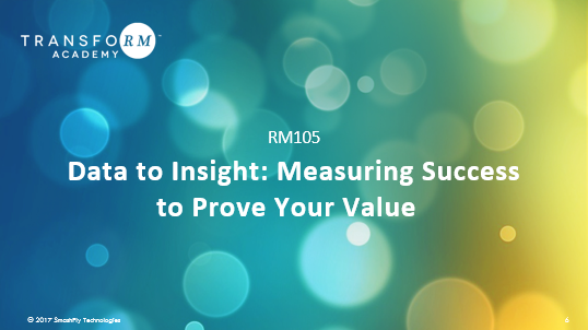 RM 105:  Data to Insight