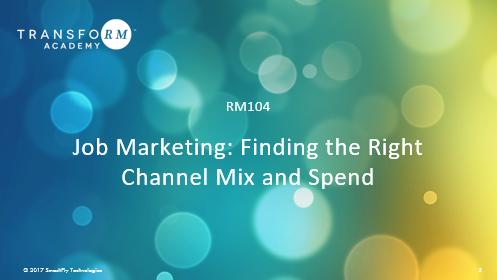 RM 104: Job Marketing