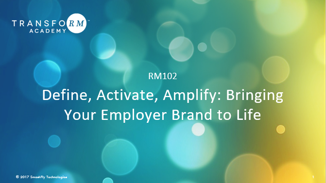 RM 102: Define, Activate, & Amplify