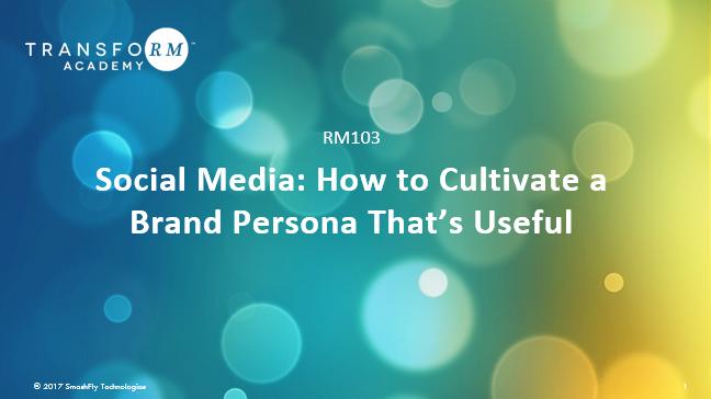 RM 103:  Social Media
