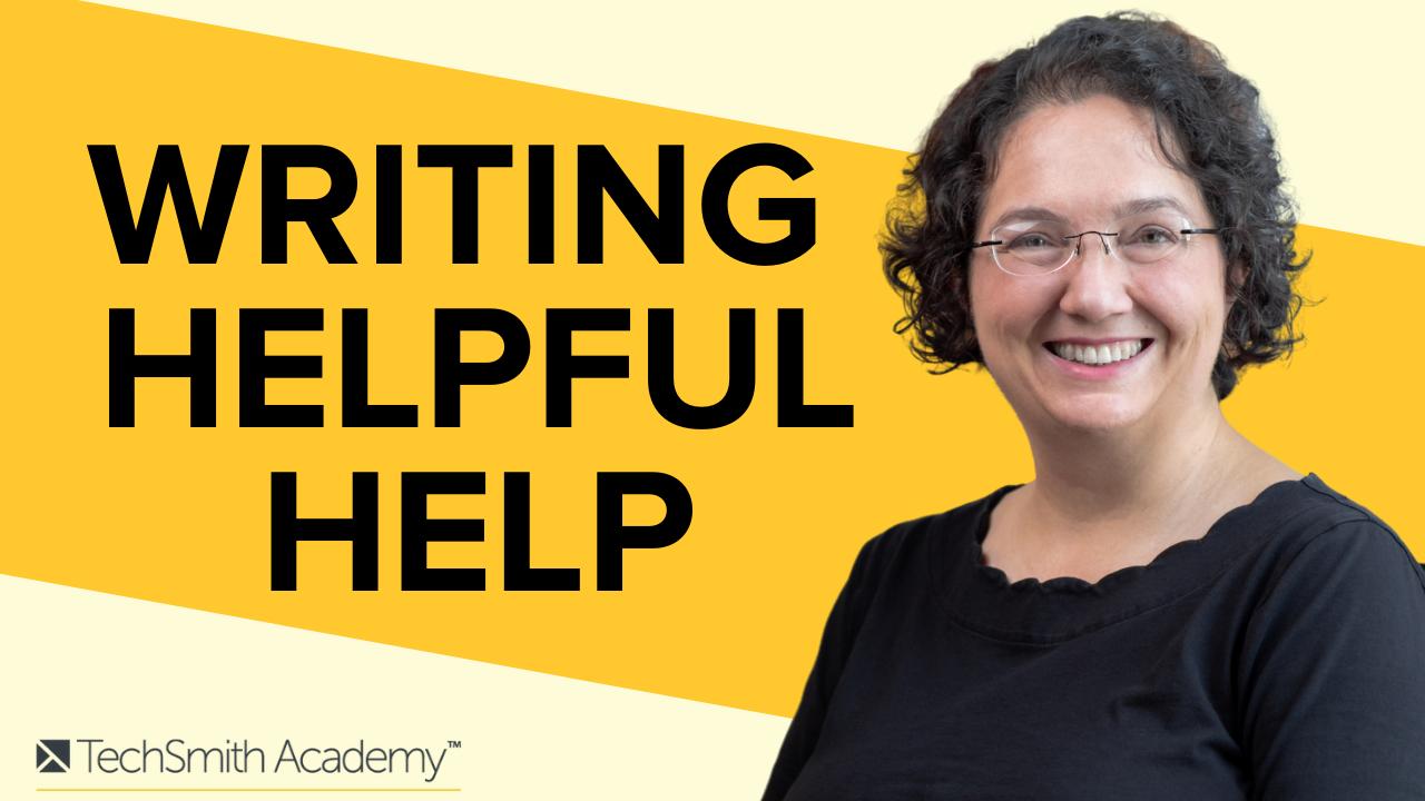 Writing Helpful Help