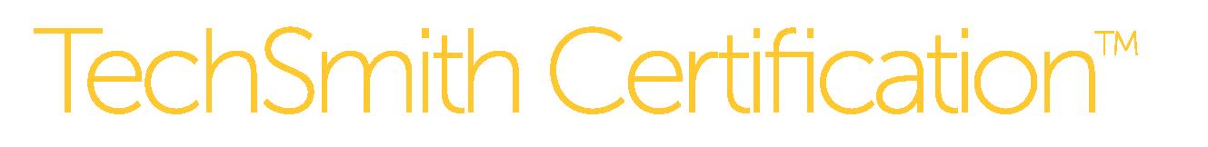 TechSmith Certification