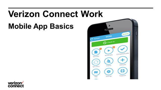 Verizon Connect Work Classic - Mobile App Basics