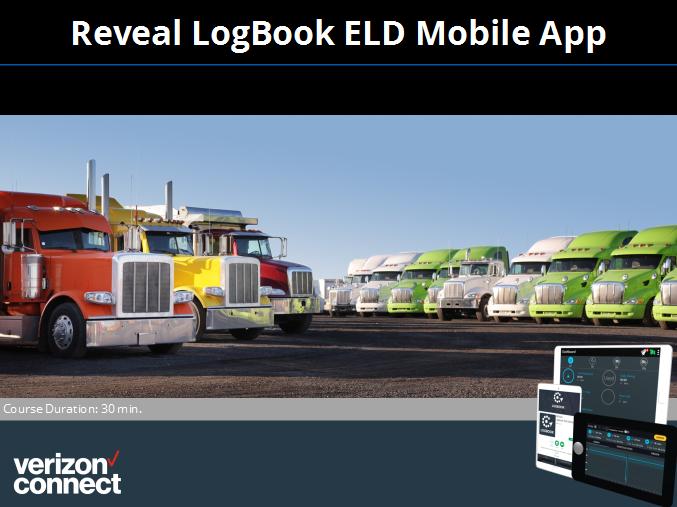 Capacitación para conductores del aplicación móvil Reveal Logbook ELD